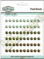5mm Green To Go Self Adhesive Pearls x 60